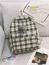 저렴한 -여성용 가방 우레탄 책가방 지퍼 용 학교 봄 클로버 / 루비 / 옐로우