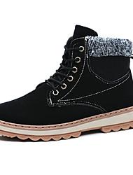povoljno -Muškarci Udobne cipele Brušena koža Zima Čizme Čizme gležnjače / do gležnja Crn / Plava / Žutomrk