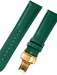Недорогие -Настоящая кожа / Кожа / Шерсть теленка Ремешок для часов Ремень для Синий / Коричневый / Зеленый 17см / 6,69 дюйма / 18cm / 7 дюймы / 19cm / 7.48 дюймы 1cm / 0.39 дюймы / 1.2cm / 0.47 дюймы / 1.3cm