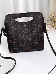 hesapli -Kadın's Çantalar PU Omuz çantası Püsküllü için Günlük Siyah
