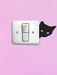 cheap -Light Switch Stickers - Animal Wall Stickers Animals Living Room / Bedroom / Bathroom