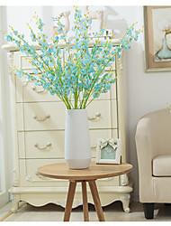 abordables -Fleurs artificielles 5 Une succursale Classique Européen style pastoral Orchidées Fleur de Table