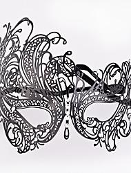 Недорогие -Косплей Венецианская маска / Половинная маска Взрослые Хэллоуин Жен. Черный Металл Для вечеринок Косплэй аксессуары Хэллоуин / Карнавал / Маскарад костюмы / Мужской