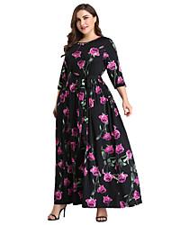 baratos -Mulheres Boho balanço Vestido - Estampado Longo