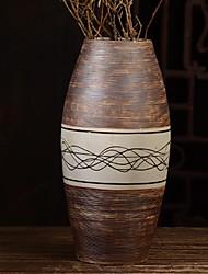 Недорогие -ваза для цветов искусственная коричневая одинарная с керамикой для офиса украшение дома настольный цветок традиционный классический стиль