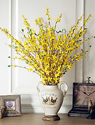 abordables -Flores Artificiales 2 Rama Clásico Europeo Estilo Pastoral Flores eternas Flor de Mesa