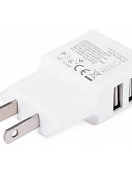 Недорогие -Портативное зарядное устройство / Беспроводное зарядное устройство Зарядное устройство USB Стандарт США Нормальная 2 USB порта 2 A DC 5V для