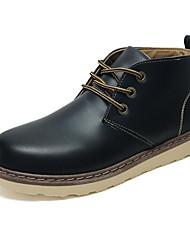 povoljno -Muškarci Udobne cipele PU Zima Čizme Čizme gležnjače / do gležnja Crn / Bijela / Braon