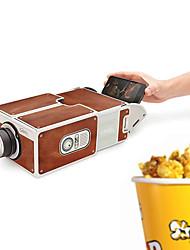Недорогие -DIY 3D проектор картон мини смартфон проектор свет новинка регулируемый проектор мобильного телефона портативный кинотеатр в коробке