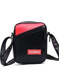 abordables -Mujer Bolsos PU Bolsa de hombro Letra Negro / Rojo / Rosa
