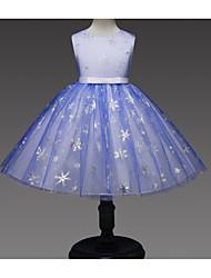 Χαμηλού Κόστους -Παιδιά Κοριτσίστικα Βασικό Μονόχρωμο Αμάνικο Φόρεμα Πράσινο του τριφυλλιού