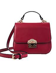 abordables -Mujer Bolsos PU Bolsa de hombro Detalles de Cristal Blanco / Negro / Rojo