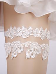 ราคาถูก -ลูกไม้ เกี่ยวกับเจ้าสาว Wedding Garter กับ เลื่อม / เข็มกลัด สายรัด งานแต่งงาน / ปาร์ตี้