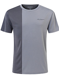 cheap Sports & Outdoors-SUMMITGLORY® Men's Hiking Tee shirt Outdoor Quick Dry Breathability Sweat-Wicking Tee / T-shirt Fitness Jogging Red / Grey