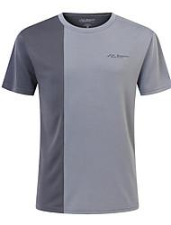 رخيصةأون رياضة والخارجية-SUMMITGLORY® رجالي تيشيرت لرياضة المشي في الهواء الطلق سريع جاف التنفس إمكانية يلف العرق T-skjorte Fitness الركض أحمر / رمادي