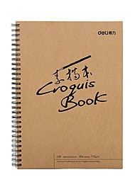 Недорогие -1 пак deli 73603-S Sketchbook 40 простыни 16K