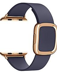 Недорогие -Ремешок для часов для Серия Apple Watch 5/4/3/2/1 / Apple Watch Series 4 Apple Современная застежка Натуральная кожа Повязка на запястье
