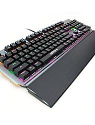 Недорогие -IMICE MK-X90 USB Проводной Механическая клавиатура Игровые клавиатуры Светящийся Механический Мульти цвет подсветки 104 pcs Ключи