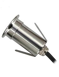 billige -ONDENN 1pc 3 W LED-lyskastere / Undervannslys / plen Lights Vanntett / Kreativ / Dekorativ Varm hvit / Kjølig hvit / Naturlig hvit 85-265 V / 12 V Utendørsbelysning / Svømmebasseng / Courtyard 1 LED