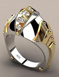 Недорогие -Жен. Кольцо Синтетический алмаз 1шт Желтый Позолота Сплав Геометрической формы модный Для вечеринок Подарок Бижутерия геометрический Рыбки Cool