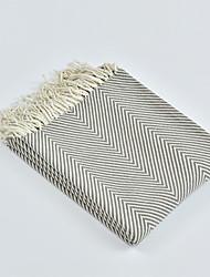 levne -Multifunkční deky, Damašek / Jednoduchý / Klasický Akrylová vlákna Ohřívač Třásně Měkký povrch přikrývky