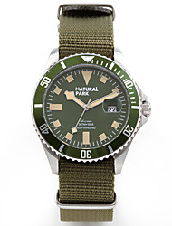 cheap -Men's Military Watch Japanese Japanese Quartz Nylon Clover 30 m Water Resistant / Waterproof Calendar / date / day Casual Watch Analog Vintage Fashion - Green Two Years Battery Life