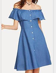 cheap -Women's A Line Dress Blue Black XXXL XXXXL XXXXXL