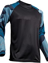 Недорогие -Муж. Длинный рукав Сноуборд Джерси Серый Тёмно-синий камуфляж Велоспорт Джерси Дышащий Влагоотводящие Быстровысыхающий Виды спорта камуфляж Горные велосипеды Одежда / Эластичная / Плотное облегание