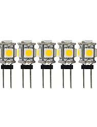 Недорогие -5 шт. 2 W 100 lm G4 Двухштырьковые LED лампы T 5 Светодиодные бусины SMD 5050 Милый Тёплый белый Холодный белый 12 V