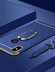 Недорогие -Кейс для Назначение Apple iPhone XS / iPhone XS Max Покрытие / Кольца-держатели / Ультратонкий Кейс на заднюю панель Однотонный Твердый ПК для iPhone XS / iPhone XR / iPhone XS Max