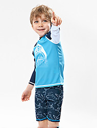 cheap -JIAAO Boys' Rash Guard Dive Skin Suit UV Sun Protection Windproof Ultra Light (UL) Nylon Long Sleeve Swimwear Beach Wear Swimwear Diving Suit Painting 2-Piece Swimming Diving / Stretchy