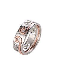 billige -Par To-tonet Ring Ring Set Trendy Romantik Moderinge Smykker Sølv Til Daglig Gade I-byen-tøj Office & Karriere 6 / 7 / 8 2pcs