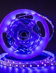 Недорогие -ZDM 16.4ft / 5m uv черный свет 395-405nm 3528 светодиодные гибкие полосы dc12v для освещения флуоресцентных танцевальных вечеринок в помещении освещение тела краска