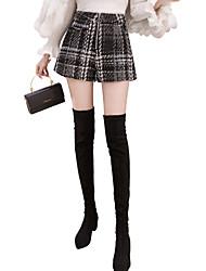 economico -Per donna Pantaloncini Pantaloni - A strisce Nero