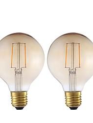 رخيصةأون -GMY® 2pcs 2 W 180 lm E26 / E27 مصابيحLED G80 2 الخرز LED COB ديكور أبيض دافئ 220-240 V