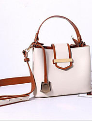 hesapli -Kadın's Çantalar PU Omuz çantası Fermuar için Günlük Bahar Havuz / Siyah / Bej
