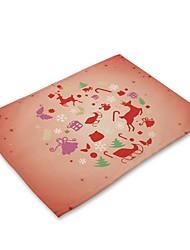 Χαμηλού Κόστους -Σύγχρονο Nonwoven Τετράγωνο Σουπλά Γεωμετρικό Φιλικό προς το περιβάλλον Χριστούγεννα Επιτραπέζια διακοσμητικά 1 pcs