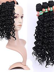 Недорогие -Laflare Омбре Синтетические экстензии Кудрявый Искусственные волосы Средняя длина Наращивание волос плетение волос 3 предмета Косплей Регулируется Лучшее качество Жен. Рождество Свадьба Halloween