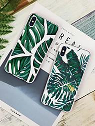 baratos -Capinha Para Apple iPhone XR / iPhone XS Max Estampada Capa traseira Plantas Macia TPU para iPhone XS / iPhone XR / iPhone XS Max