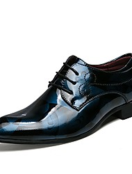 cheap -Men's Printed Oxfords Patent Leather Spring & Summer Business / Classic Oxfords Gray / Red / Blue / Wedding / Party & Evening