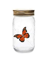 Недорогие -Новинка светлый кувшин бабочка с лампой романтическое стекло светодиодная лампа бабочка в кувшине валентинка подарок детям украшение дома d