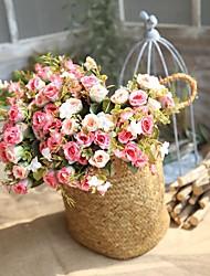 billiga -Konstgjorda blommor 1 Gren Klassisk Europeisk Camellia Eviga Blommor Bordsblomma