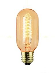 Недорогие -1шт 40 W E26 / E27 T45 Желтый Прозрачный Body Лампа накаливания Vintage Эдисон лампочка 220-240 V