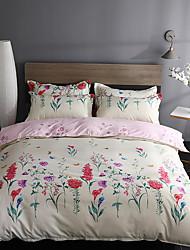 ราคาถูก -ชุดผ้านวมคลุม ลายดอกไม้ / สไตล์จีน / ร่วมสมัย Poly / Cotton Printed 4 ชิ้นBedding Sets