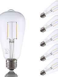 povoljno -6pack- gmy st21 vodio edison žarulja 2w 220lm vodio svjetlo žarulja ekvivalent 22w s e26 baze 2700k topla bijela za spavaću sobu dnevni boravak kućni kafić