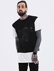 halpa -Miesten Pyöreä kaula-aukko Yhtenäinen EU / US-koko - T-paita