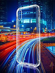 Недорогие -Кейс для Назначение Apple iPhone XS / iPhone XR / iPhone XS Max Защита от удара / Ультратонкий / Прозрачный Кейс на заднюю панель Однотонный Мягкий ТПУ