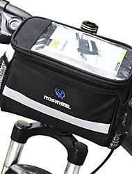 Недорогие -ROSWHEEL 4.5 L Бардачок на руль Влагонепроницаемый Пригодно для носки Ударопрочность Велосумка/бардачок ПВХ 600D полиэстер Велосумка/бардачок Велосумка Samsung Galaxy S6 / iPhone 4/4S / LG G3