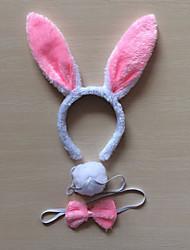 billige -Rabbit Mascot påskeharen Ører Pannebånd Barne Voksne Dame Tegneserie Påske Festival / høytid Tøy Grønn / Blå / Rosa Karneval Kostumer Lapper