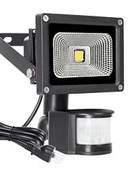 abordables -1pc 10 W Projecteurs LED Imperméable / Capteur infrarouge / Intensité Réglable Blanc Chaud 85-265 V Eclairage Extérieur / Cour / Jardin 1 Perles LED